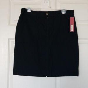 NWT Merona Black Skirt Size 8